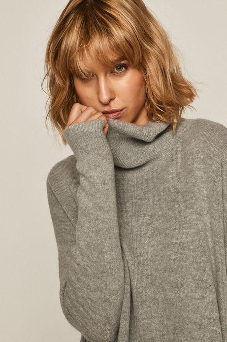 Sweter damski z golfem szary