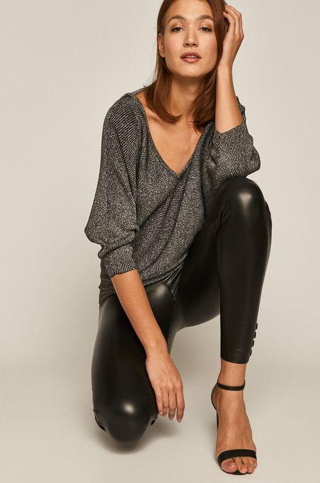 Sweter damski z wycięciem na plecach czarny