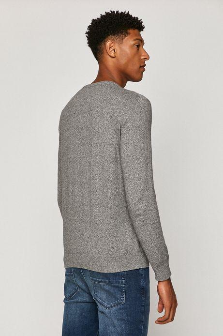 Sweter męski z bawełny organicznej szary
