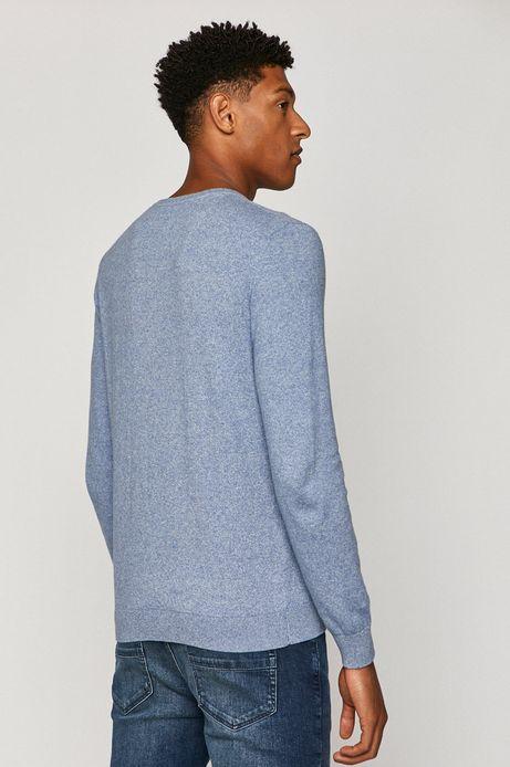 Sweter męski z bawełny organicznej niebieski