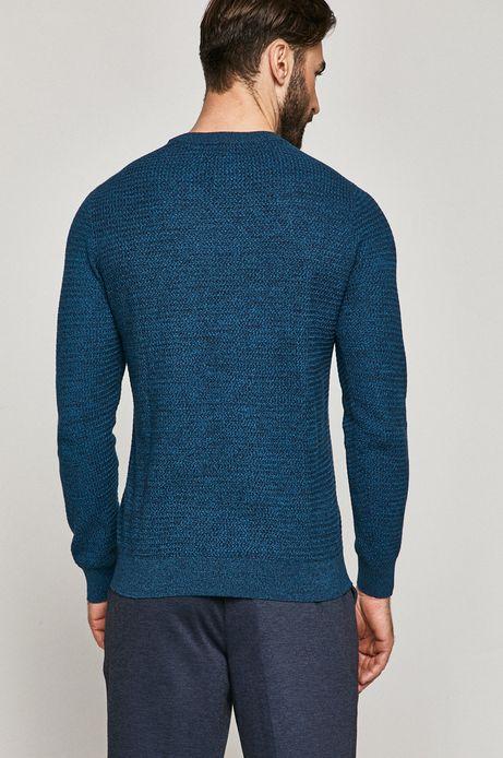 Sweter męski bawełniany niebieski