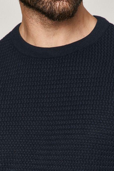 Sweter męski bawełniany granatowy
