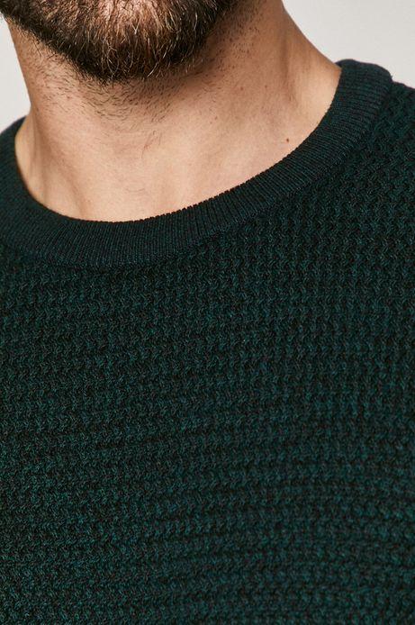 Sweter męski bawełniany zielony