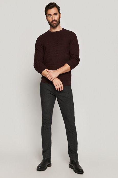 Sweter męski bawełniany bordowy