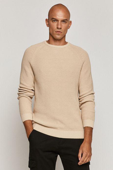 Sweter męski beżowy