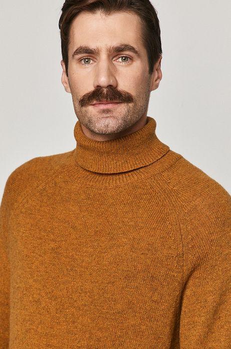 Sweter męski wełniany żółty