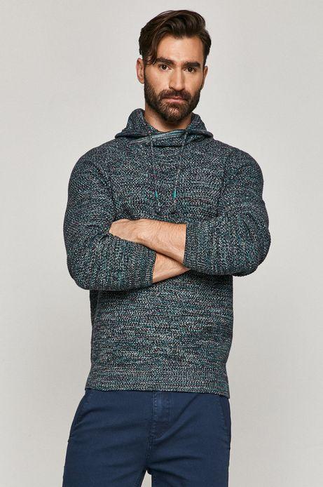Sweter męski z wzorzystej dzianiny