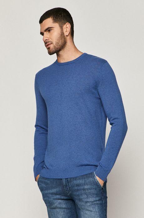 Sweter męski wełniany niebieski
