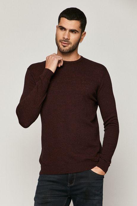 Sweter męski wełniany bordowy