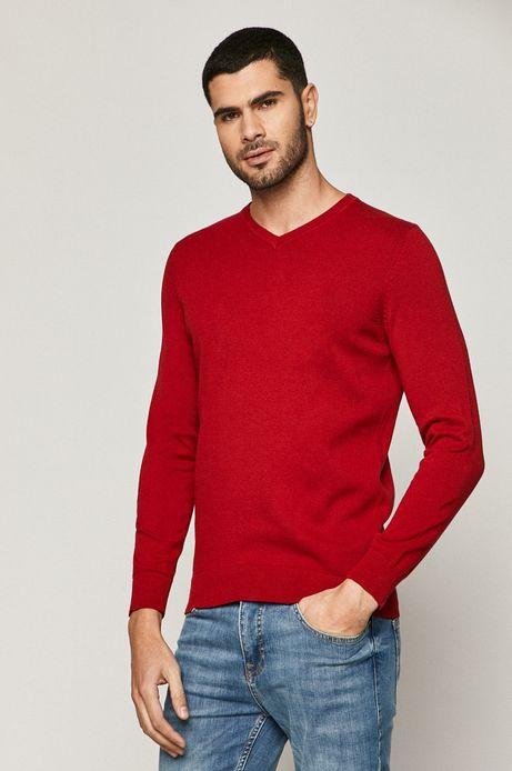 Sweter męski Basic czerwony