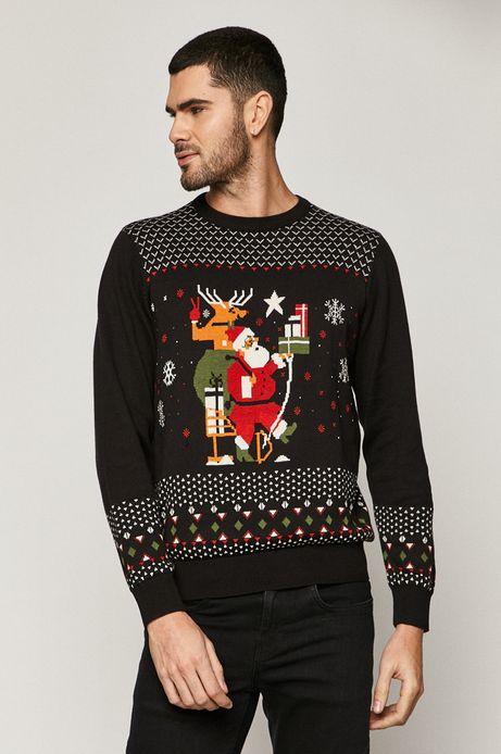 Sweter męski z kolekcji X-mass by Dawid Ryski czarny
