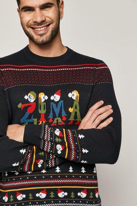Sweter męski  X-mass by Patryk Mogilnicki granatowy