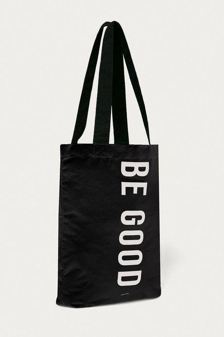 Torba bawełniana z napisem BE GOOD czarna