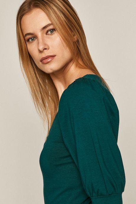Bluzka damska z bufkami turkusowa