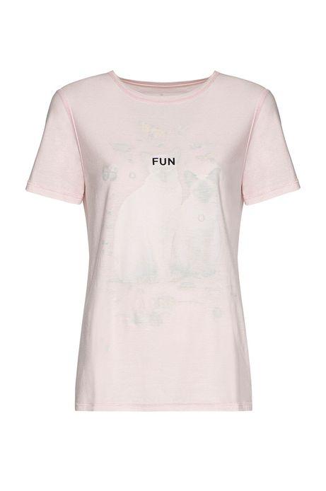 T-shirt damski by Dorota Masłowska i Maciej Chorąży różowy