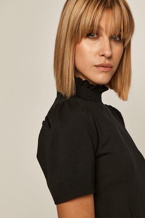 T-shirt damski z golfem czarny