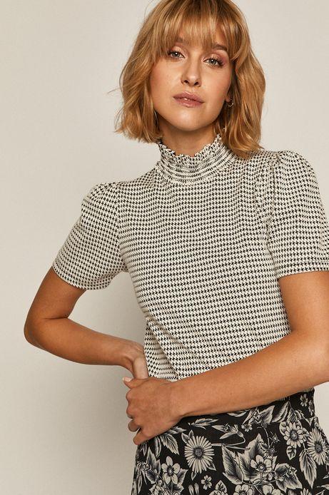Bluzka damska z półgolfem wzorzysta