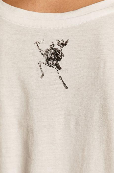 T-shirt damski Halloween biały