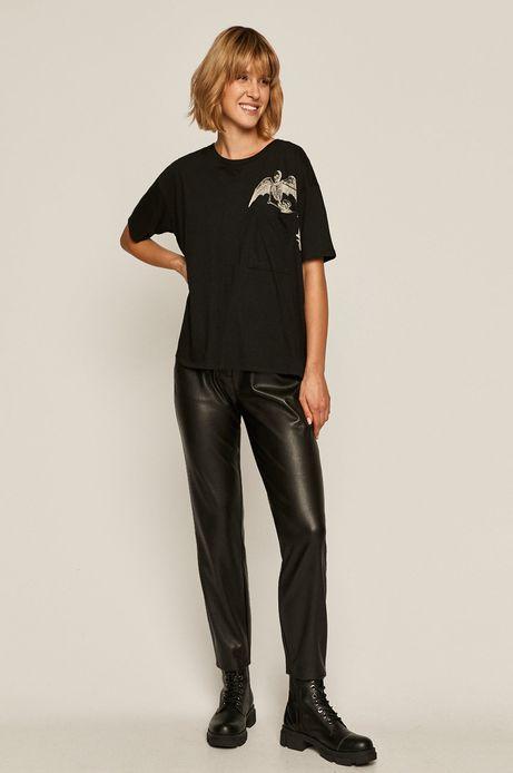 T-shirt damski Halloween czarny