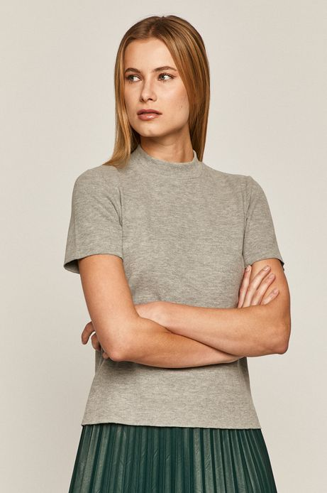 T-shirt damski gładki szary