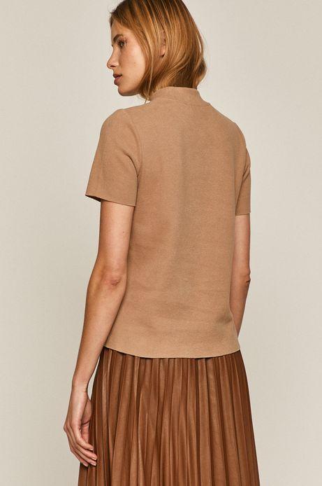 T-shirt damski gładki beżowy