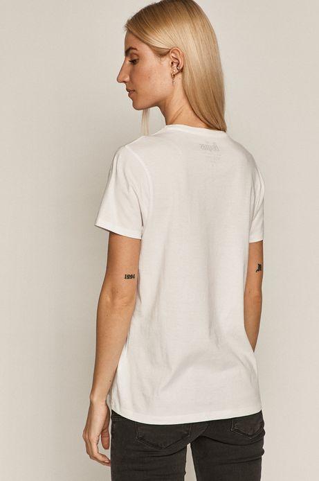 T-shirt damski z bawełny organicznej z nadrukiem The Beatles biały