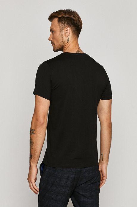 T-shirt męski czarny