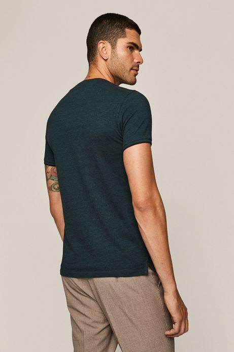 T-shirt męski Basic turkusowy