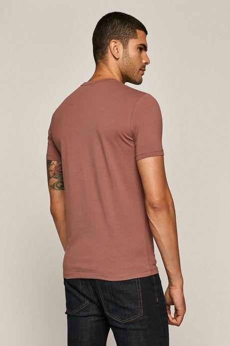 T-shirt męski różowy