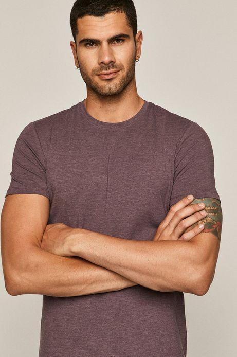 T-shirt męski fioletowy