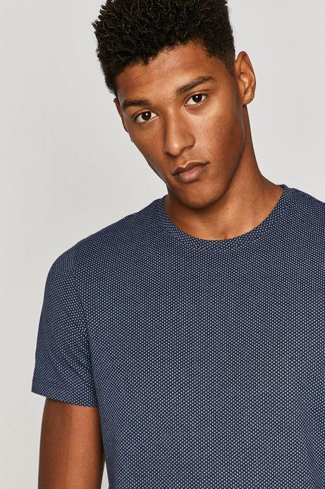 T-shirt męski Basic niebieski