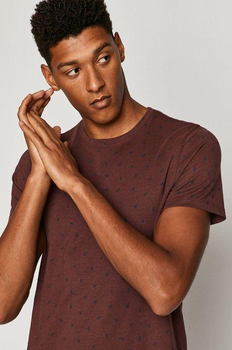 T-shirt męski Basic bordowy