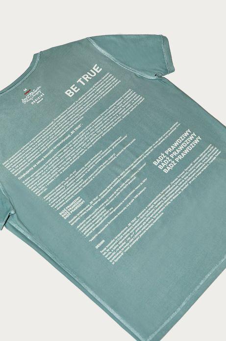 T-shirt męski by Dorota Masłowska i Maciej Chorąży niebieski
