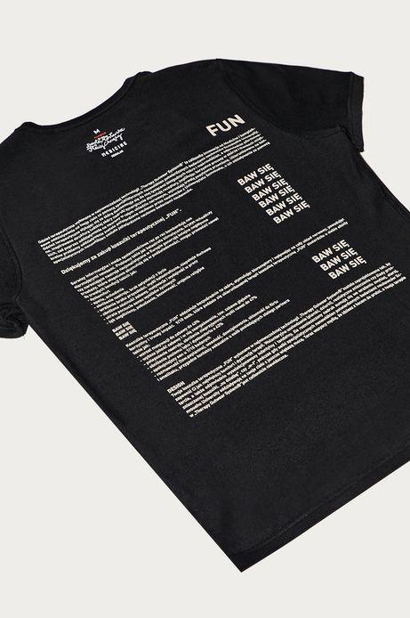 T-shirt męski by Dorota Masłowska i Maciej Chorąży czarny