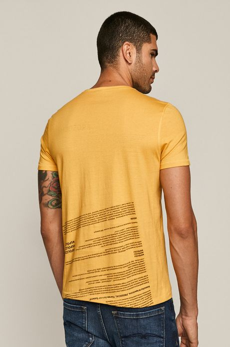 T-shirt męski by Dorota Masłowska i Maciej Chorąży żółty