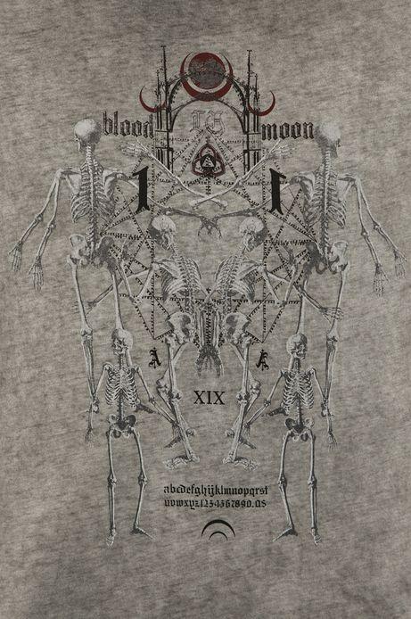 T-shirt męski Halloween szary