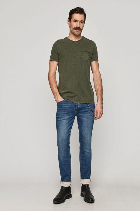 T-shirt męski z kieszonką zielony