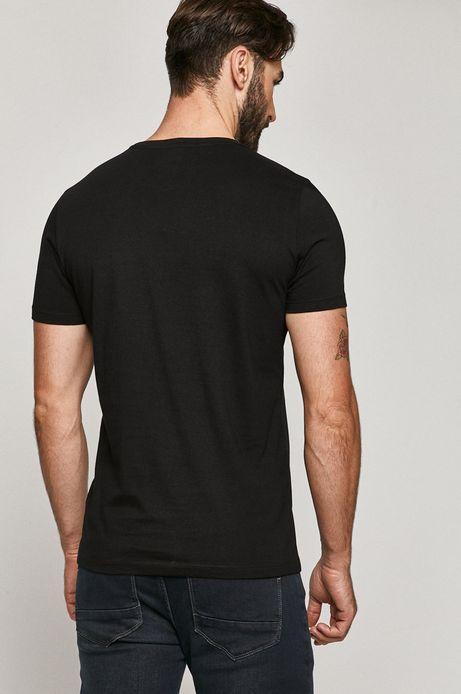 T-shirt męski z bawełny organicznej z nadrukiem Batman czarny