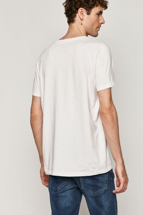 T-shirt męski Metallica z nadrukiem biały