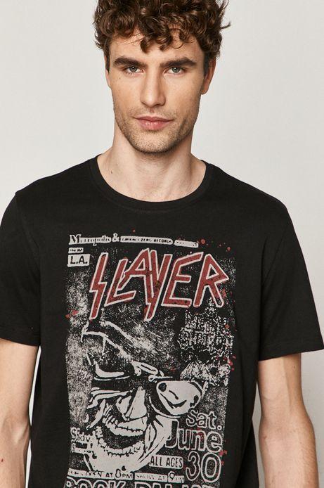 T-shirt męski z nadrukiem Slayer czarny