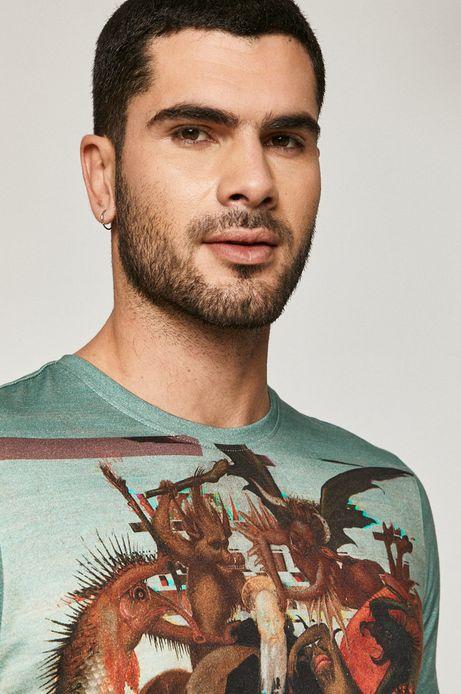 T-shirt męski z bawełny organicznej z nadrukiem