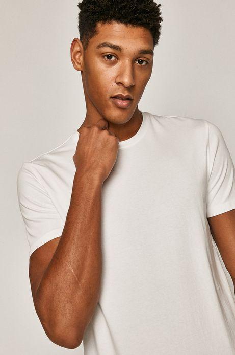 T-shirt męski gładki biały