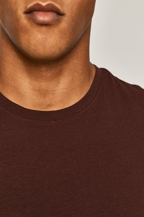 T-shirt męski gładki bordowy