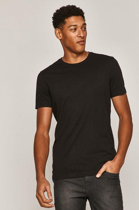 T-shirt męski gładki czarny