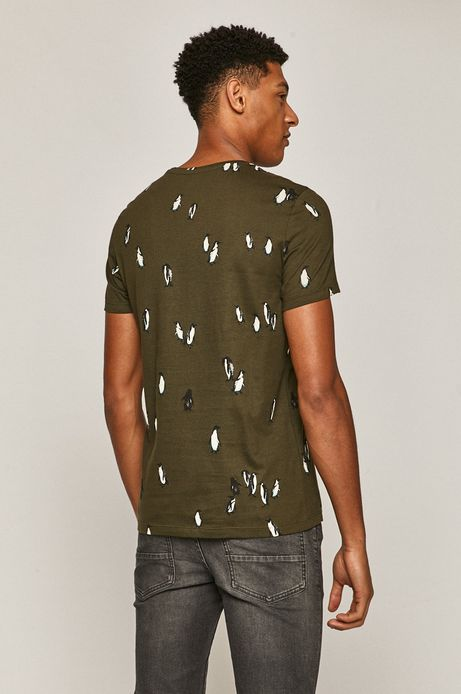 T-shirt męski Xmass z bawełny organicznej zielony
