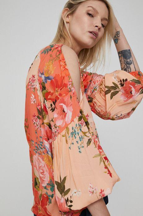 Bluzka damska z wiskozy w kwiaty
