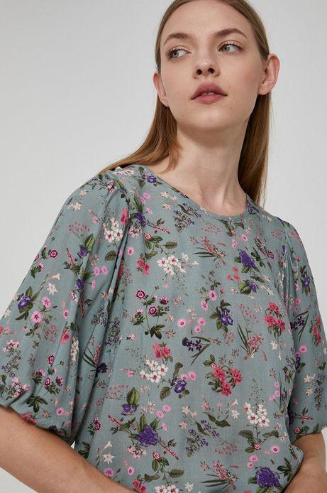 Bluzka damska z wiązaniem na plecach zielona