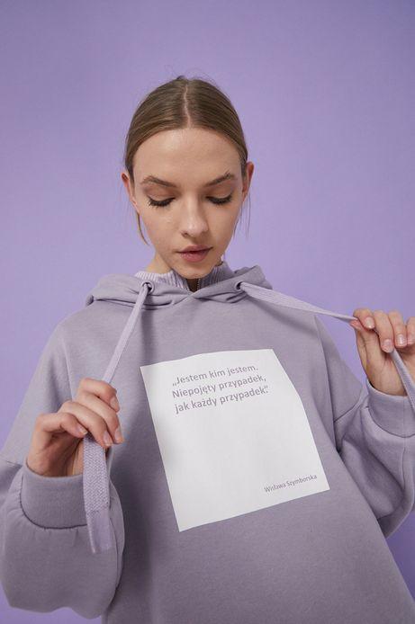 Bluza bawełniana fioletowa damska z kolekcji Możliwości - Fundacja Wisławy Szymborskiej