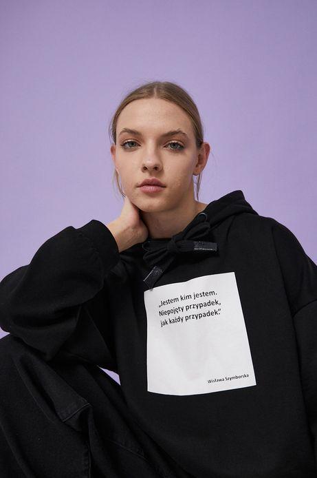 Bluza bawełniana czarna damska z kolekcji Możliwości - Fundacja Wisławy Szymborskiej