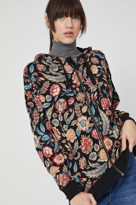 Bluza wzorzysta damska czarna